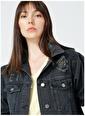 Limon Company Limon Kadın Siyah Pamuklu Denim Ceket Siyah